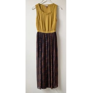 FOREVER 21 Tribal Maxi Dress S Cut Out